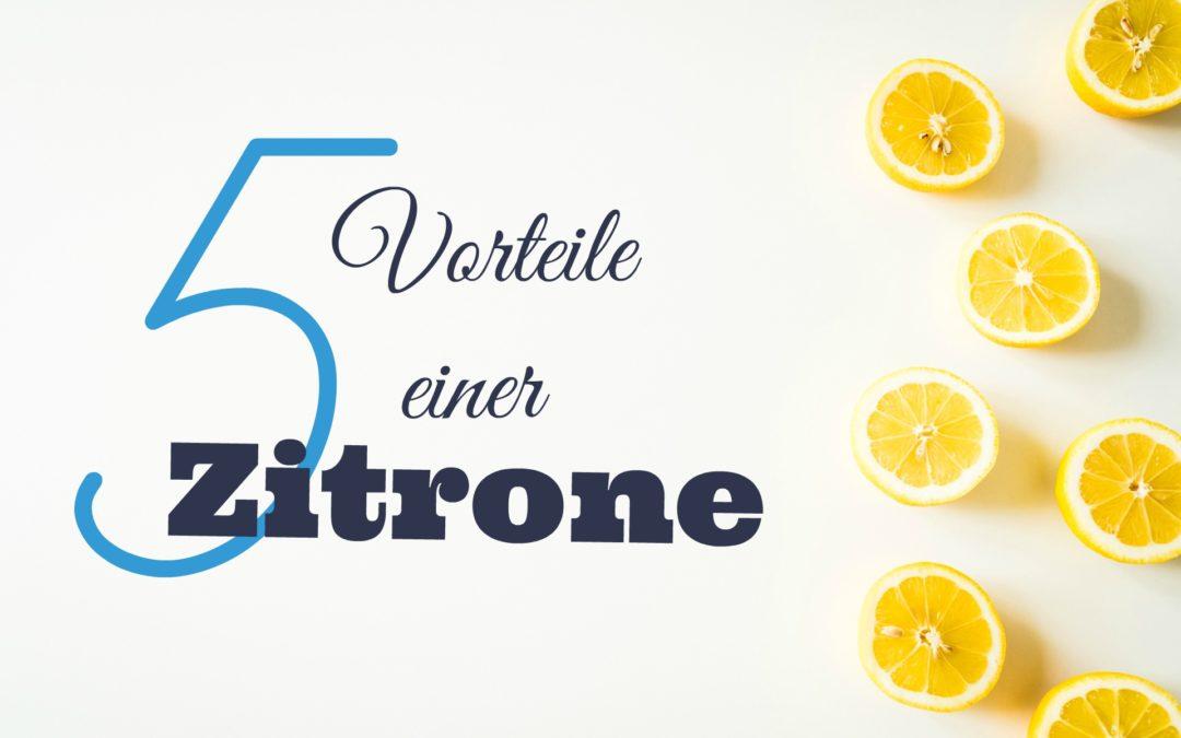 5 Vorteile einer Zitrone